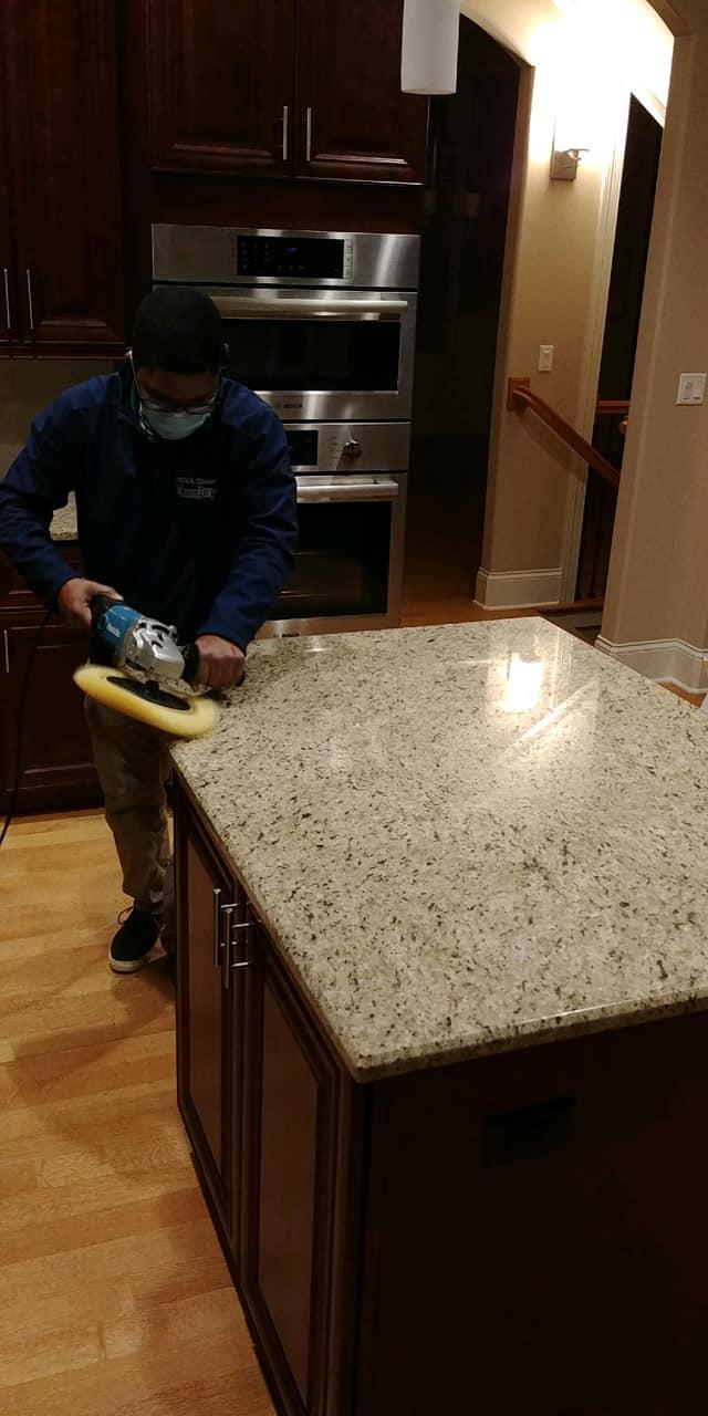 polished granite countertop service